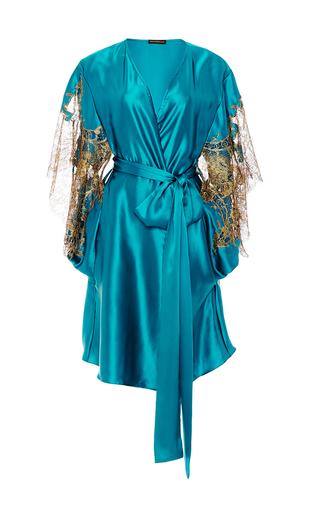 Medium rosamosario blue gold and my love short robe