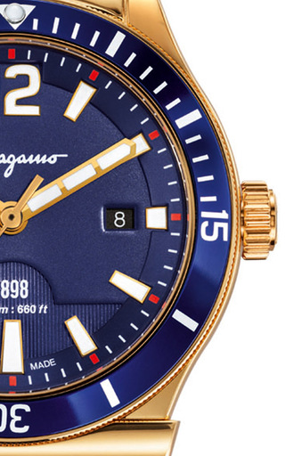 mens 1898 sport blue dial watch by salvatore ferragamo moda operandi