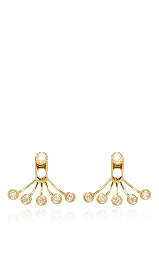 Medium ef collection gold gold diamond bezel diamond ear jackets