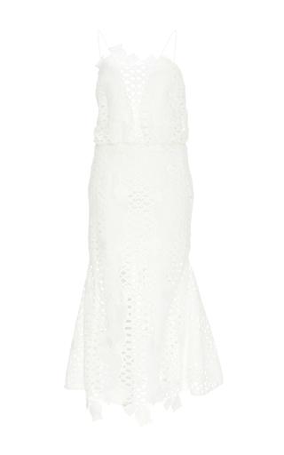 White Lovelight Crochet Dress by ALICE MCCALL Now Available on Moda Operandi