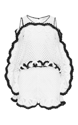 Medium alice mccall white she s royal crocheted playsuit