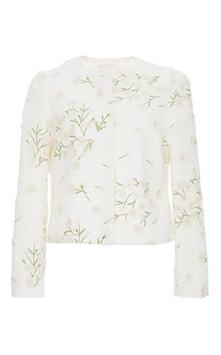 Daisy Embroidered Tweed Jacket by GIAMBATTISTA VALLI Now Available on Moda Operandi
