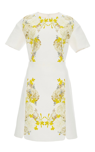 Medium giambattista valli white floral botanical dress