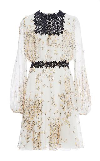 Medium giambattista valli white long sleeved daisy georgette dress