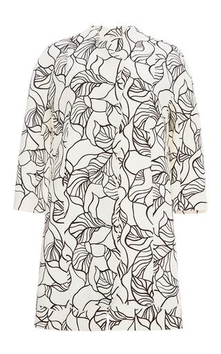 Cotton Crepe Leaf Print Tunic by GIAMBATTISTA VALLI Now Available on Moda Operandi