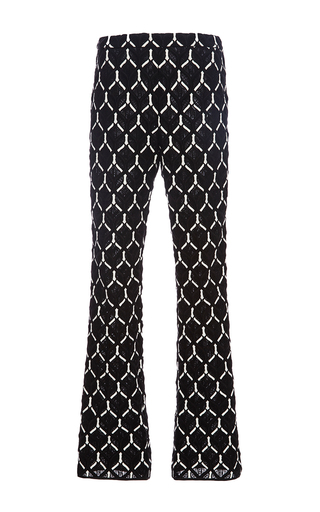 Geometric Macramé Cropped Pants by GIAMBATTISTA VALLI Now Available on Moda Operandi
