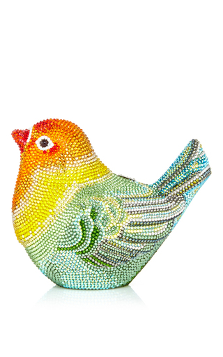 Medium judith leiber multi love bird clutch