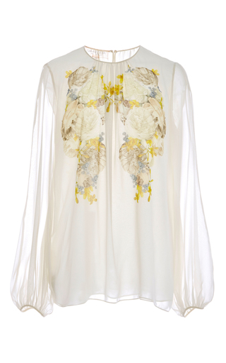 Silk Georgette Floral Printed Blouse  by GIAMBATTISTA VALLI Now Available on Moda Operandi