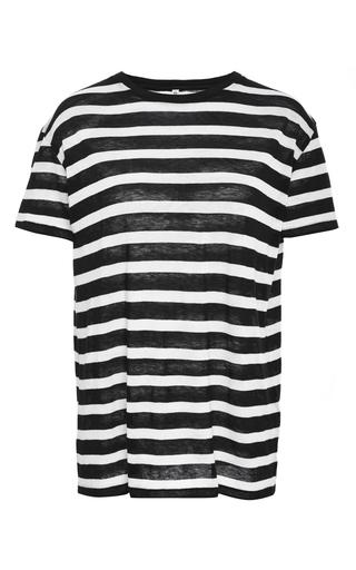 Medium r13 denim multi cotton cashmere short sleeved striped tee