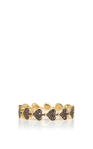 Medium alison lou gold spade bling ring