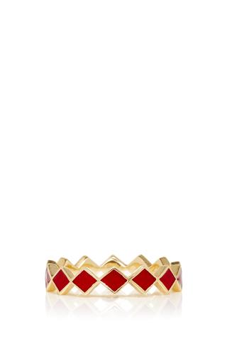 Medium alison lou gold diamond ring