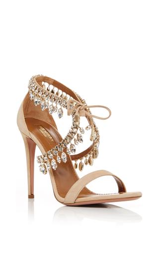 Medium aquazzura nude milla beaded jewel strap sandals