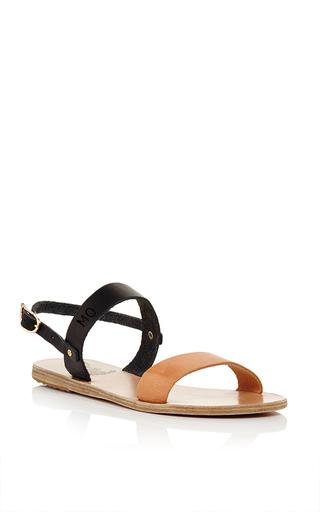 Medium ancient greek sandals brown clio sandals in natural vachetta