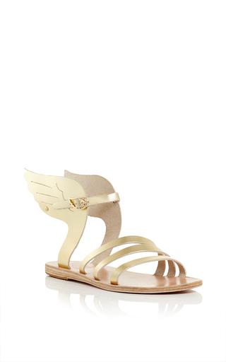 Medium ancient greek sandals metallic ikaria sandals in platinum vachetta