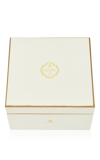 The Golden Porringer Wild Fig Candle  by FEU DE BEAUMONT Now Available on Moda Operandi