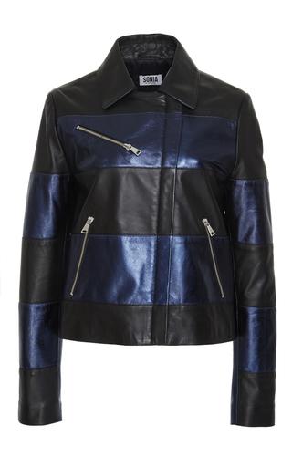 Medium sonia by sonia rykiel black metallic leather jacket