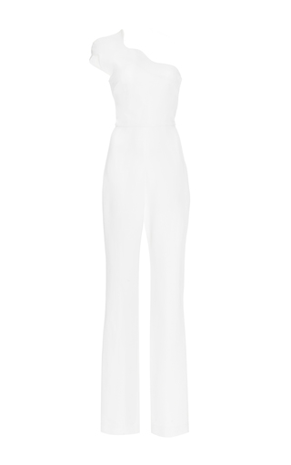 Medium cushnie et ochs white power viscose asymmetric jumpsuit