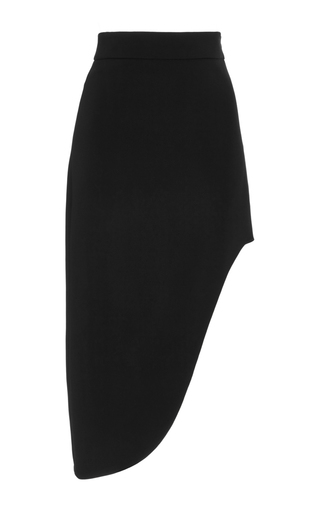 Medium cushnie et ochs black black asymmetric stretch cady skirt