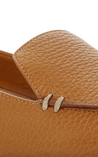 Tan Botalatto Leather Beya Loafer by NICHOLAS KIRKWOOD Now Available on Moda Operandi