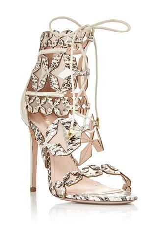 Medium nicholas kirkwood white white elaphe stella lace up sandal