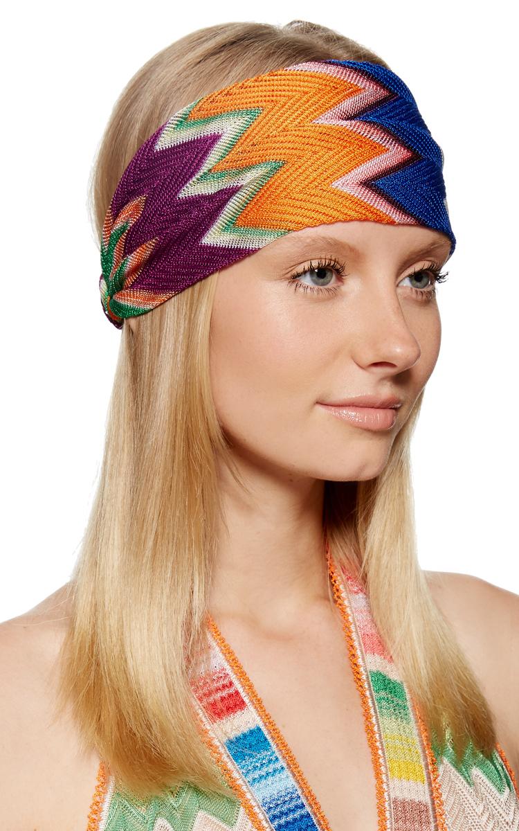 Printed Zig Zag Striped Headband by Missoni  0698119ff51