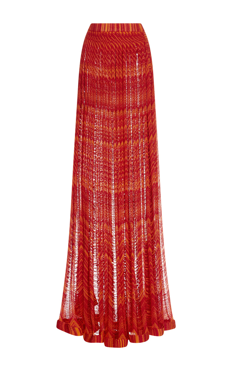 76842d82e12 Two Toned Pleated Maxi Skirt by Missoni