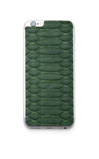 Medium jamie clawson green green python iphone leather back