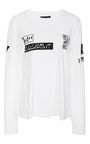 Long Sleeve Mixed Media T Shirt by ALEXANDER WANG Now Available on Moda Operandi