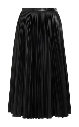 Medium alexander wang black pleated leather a line skirt