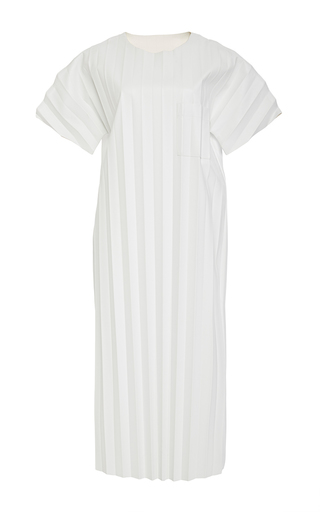 Medium alexander wang white pleated t shirt dress