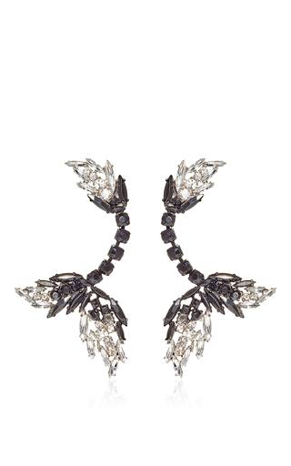 Medium marni dark grey grey jeweled drop earring