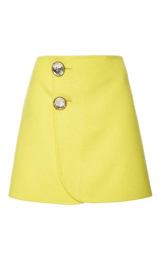 Medium marni yellow yellow embellished mini skirt