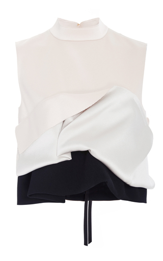 Medium marni pink draped satin crop top