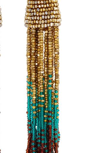 Ombre Beaded Tassel Earrings By Oscar De La Renta Moda Operandi