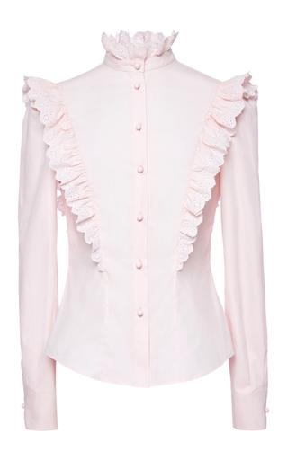Medium philosophy di lorenzo serafini light pink cotton poplin ruffle blouse