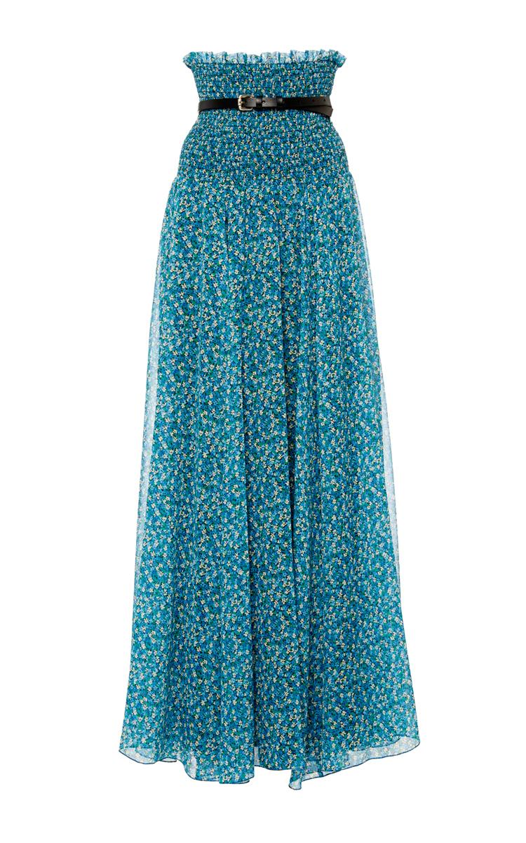 ac074d4fd Philosophy di Lorenzo SerafiniPrinted Georgette Sheer Long Skirt. CLOSE.  Loading