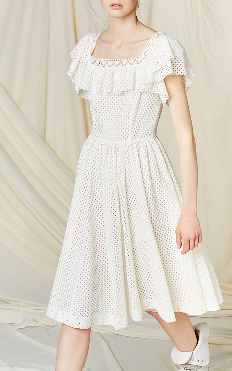 Visit Ruffled cotton dress Philosophy di Lorenzo Serafini Hurry Up Good Service Outlet Perfect Outlet With Paypal Order Bwlvzd2l8