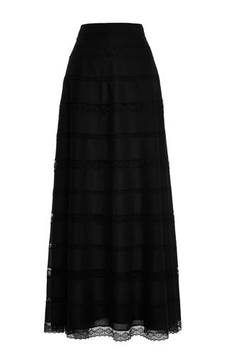Medium philosophy di lorenzo serafini black muslin sheer long skirt
