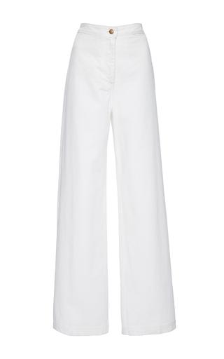 Medium apiece apart white high waist flare pant
