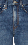 Wright Dark Vintage High Rise Straight Jeans by BROCK COLLECTION Now Available on Moda Operandi