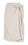 Gingham Twill Sienna Skirt by BROCK COLLECTION Now Available on Moda Operandi