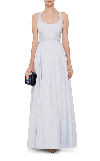 Daph Cotton Cross Back Maxi Dress  by BROCK COLLECTION Now Available on Moda Operandi