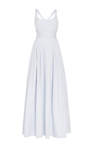 Medium brock light blue daph cotton cross back maxi dress