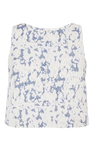 Medium brock multi cloud print bally blouse