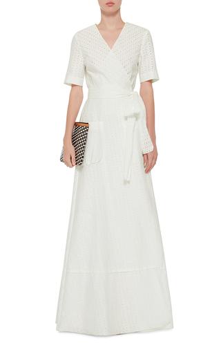 Daria Cotton Eyelet Wrap Maxi Dress by BROCK COLLECTION Now Available on Moda Operandi