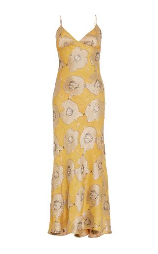 Medium brock print floral silk jacquard delhi dress