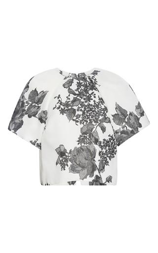 Medium monique lhuillier white open back painted rose top