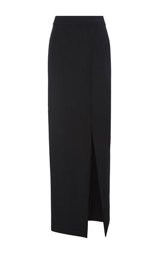 Medium monique lhuillier black crepe column skirt