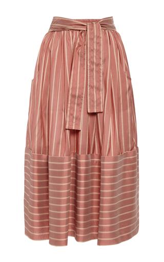 Medium tome stripe rose silk stripe dirndl skirt