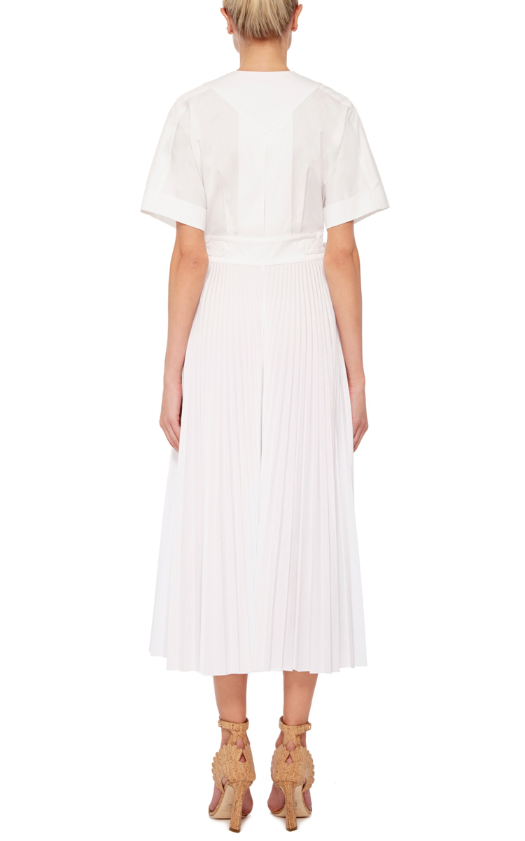 cotton poplin belted wrap dress by tome moda operandi